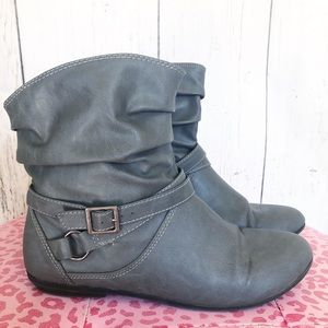 Lower east side grey ankle boots 8.5